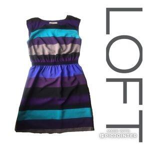 LOFT striped dress small